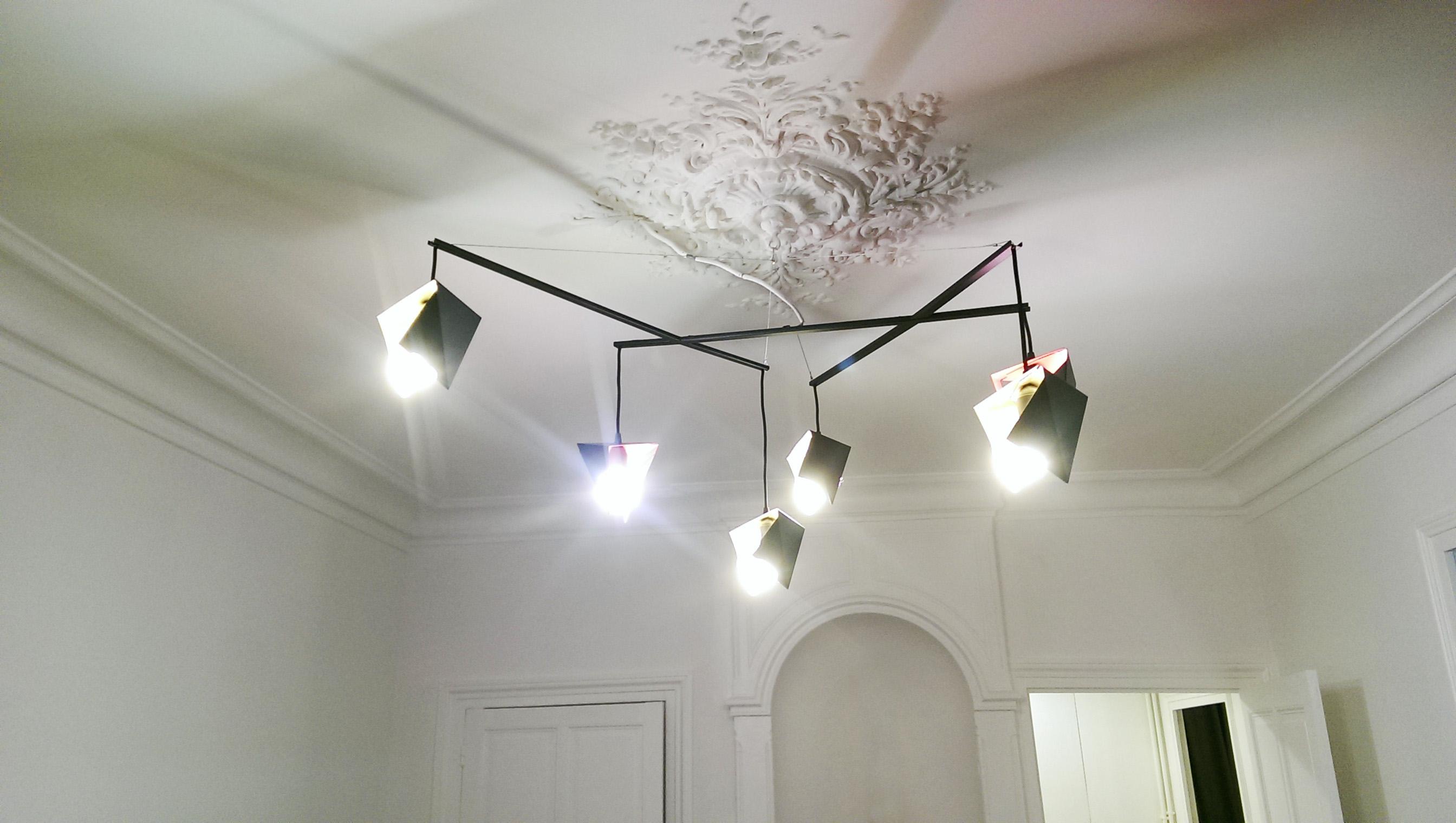 lampe pampilles sur mesure en m tal fabricant meuble metal. Black Bedroom Furniture Sets. Home Design Ideas