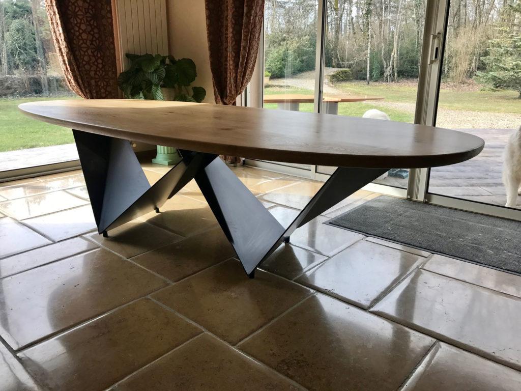 Pied De Table Origami En Acier Plie Et Vernis Fabricant