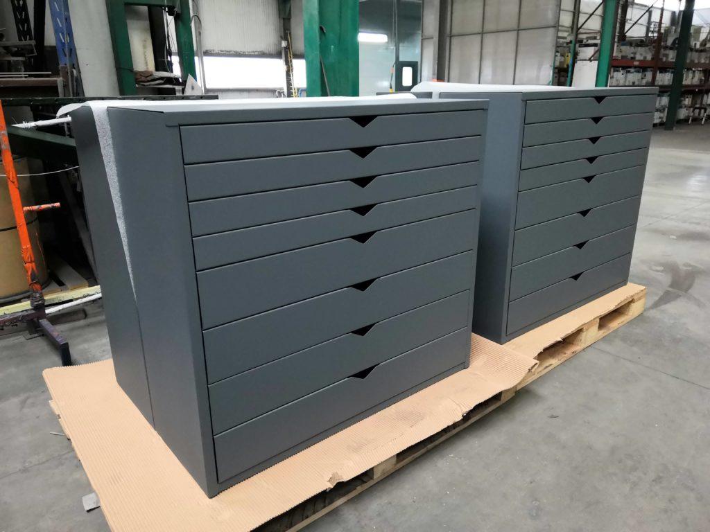 meuble de rangement tiroirs en m tal fabricant meuble metal. Black Bedroom Furniture Sets. Home Design Ideas